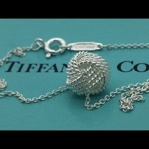 "Tiffany&co 925 Knot Necklace 16"" Long"